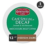 Community Coffee Café Special Decaf Medium Dark Roast Single Serve, 36 Ct Box, Compatible with Keurig 2.0 K Cup Brewers, Medium Full Body Smooth Bright Taste, 100% Arabica Coffee Beans