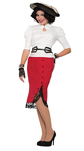 Forum Novelties X76681 rode 1940 potlood rok kostuum (UK 10-12)