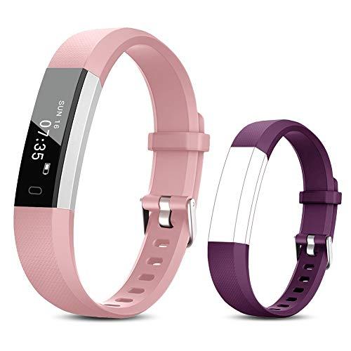 TOOBUR Reloj Inteligente para Mujer Niña Niños, Pulsera Actividad con Cuenta Pasos y Calorias, Podómetro Smartwatch Impermeable IP67 con Monitor de Sueño y Despertador Vibrador