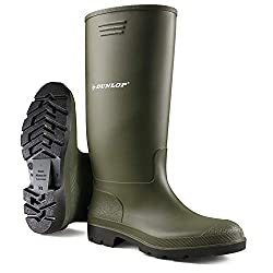 100% Original Dunlop Wellington Boots Deep Thread for Enhanced Grip Shock Absorbent Fully Waterproof Easy to Pull On