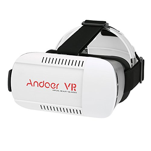 Andoer Virtual Reality Glasses 3D Glasses Headset Universal for Android iOS Windows Smart Phones with 4.7 to 6.0