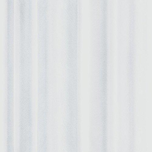 Front 4053 Vlies-Tapete zart gezeichnete, wellige Gardine, Vorhang in weiß und zartgrau