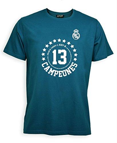 Camiseta Adulto Campeones Kiev 2018 - Real Madrid Oficial (S)