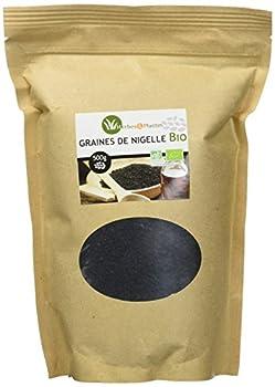 Sachet de 500g de Graines de Nigelle Bio Produit issu de l'agriculture biologique Nigella sativa Se consomme tel quel, mélangé à un yaourt, compote, pâtisserie, salade ou dans les thés, tisanes et infusions.