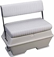 Moeller Deluxe Permanent Mount Swing Back Cooler or Livewell Boat Seat (72-Quart, 37