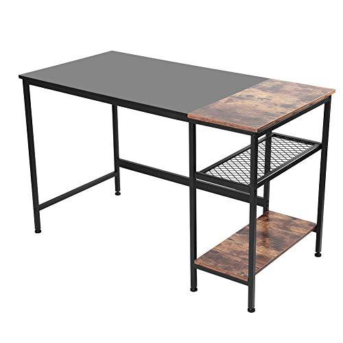 Cerlingwee Escritorio para computadora, Mesa para computadora portátil de Estilo Simple y Moderno Que Ahorra Espacio, Escritorio de Oficina Negro de 1,2 m, Escritorio para Juegos, multipropósito para