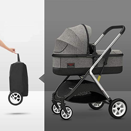 Review TXTC High View Pram Carriage,Compact Buggy Strollers,Portable Baby Stroller Anti-Shock Pushch...