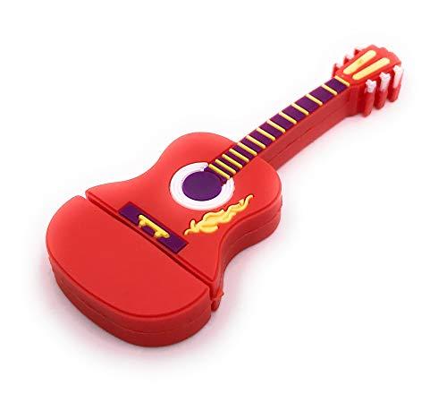 Onlineworld2013 Guitarra Instrumento Musical Guitarra Eléctrica roja Divertida Memoria USB 32 GB...