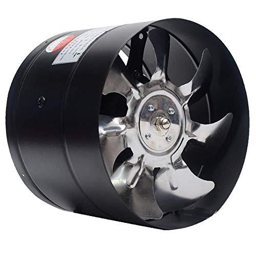 Los extractores de aire Extractor de ventilación de escape de 150 mm de tubo redondo Ventilador Cocina Gas Ventilador Potente Baño Silencio baja energía Consumo de ventilación fuerte (Tamaño: A) venti