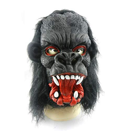 TEGOS Novelty Monkey Animal Gorilla Monkey Head Costume Masks Halloween Party Cosplay Decorations Scary Mask for Adults, Kids
