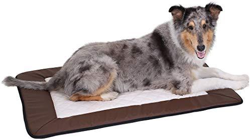 Knuffelwuff 12671 Universal Hundematte Fim Exclusive für Haus Garten Auto viel mehr, XL, 100 x 72 cm, braun/weiß