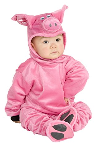 Charades Little Pig Costume Baby Costume, -Pink, Infant