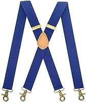 MENDENG Suspenders for Men Vintage Bronze Snap Hooks Adjustable Braces Groomsmen