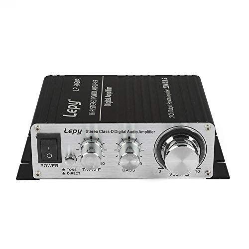 Lepy LP-2020A Class-D Hi-Fi Digital Amplifier with Power Supply Black (Renewed)