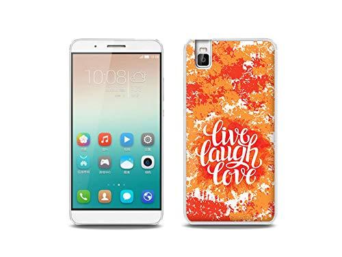 etuo Handyhülle für Huawei ShotX - Hülle, Silikon, Gummi Schutzhülle - Leben Lachen Lieben