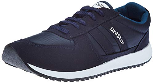 Unistar Men's Sneakers-10 UK (44 EU) (033_Blue_10)