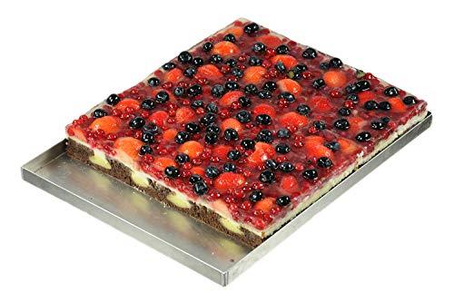 Hobbybäcker.de Back Blech, Backblech für Sahneschnitten Blechkuchen und mehr, 30 x 40 cm, 2 cm hoch