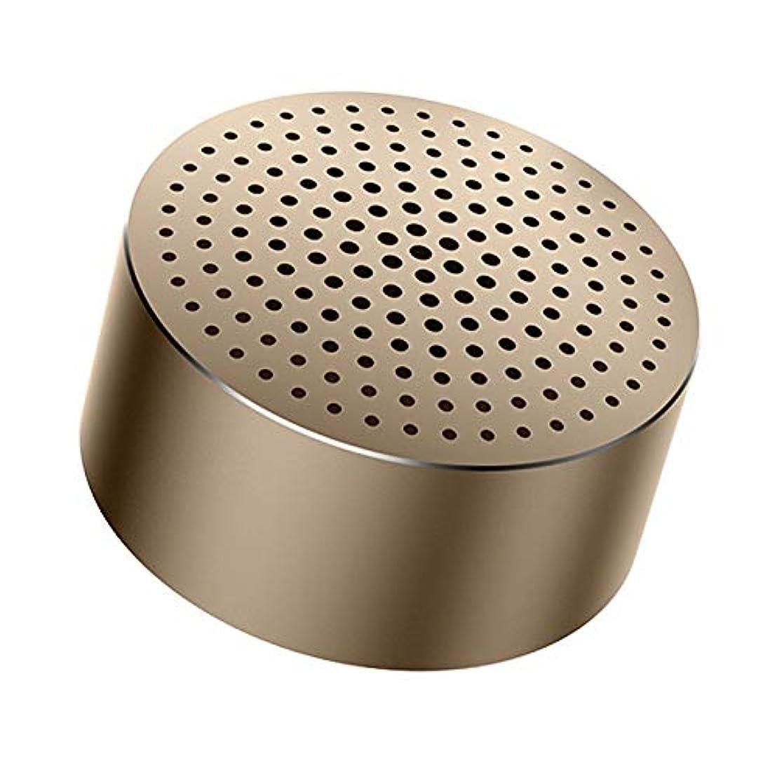 軽量美徳リマWANLU スマートスピーカー 防水 エコー エコードット スピーカー bluetooth ポータブル ミニ ワイヤレス Bluetoothスピーカー サブウーファー インテリジェントな音声制御 ポータブルBluetoothスピーカー防水 内蔵マイク/ (Color : Gold)