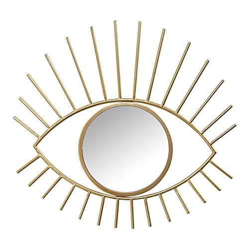 Stratton Home Décor Stratton Home Decor Gold Metal Eye Wall Mirror, 23.43W X 0.59D X 21.65H