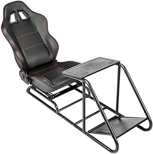 CO-Z Sedile da Corsa Simulatore di Cabina di Guida Supporto Regolabile con Pedale di Montaggio del Cambio per Video Gioco PS4 PS3 Xbox One Xbox 360 Logitech Thrustmaster