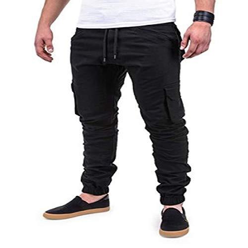 Katenyl Pantalones Cargo con Puntadas Multibolsillos para Hombre, Ropa de Calle a la Moda, Pantalones básicos Informales con cordón al Aire Libre 3XL