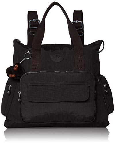 Kipling womens Alvy 2-In-1 Convertible Tote Backpack, True Black, One Size