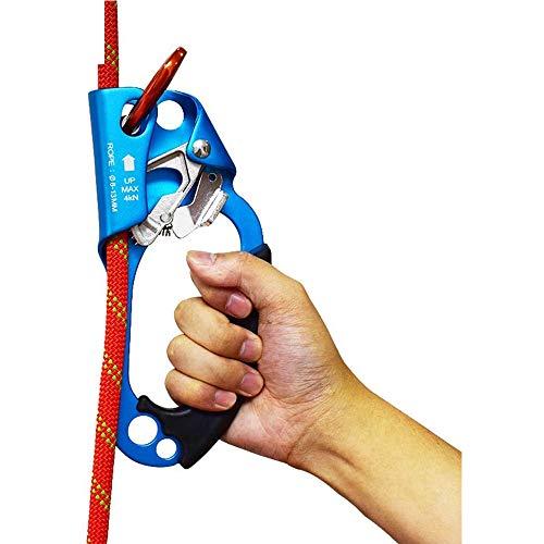 xxz Ascendeur à Main, Escalade d'arbre, équipement de Descente en Rappel d'arboriste, dispositifs d'assurage de descendeur, sûr et Stable, pour Une Corde de 8 à 12 mm pour Le Sauvetage, arboriste