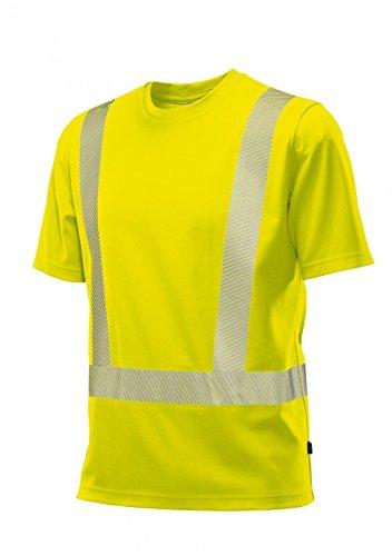 BP 2131-260-86-L Unisex-T-Shirt, Rundhals, 1/2 Ärmel, 185,00 g/m² Stoffmischung, Warngelb, L