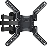 TV Mount Full Motion TV Wall Mount Bracket Articulating Arms Swivels Tilts Extension Rotation for Most 28-60 Inch LED LCD Flat & Curved Screen TVs,Max VESA 400x400mm ,80 lbs