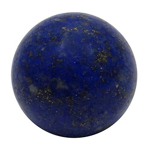 HARMONIZE - Sfera in lapislazzuli, per guarigione Reiki, bilanciamento, decorazione da tavolo, Pietra, Blu (Lapis Lazuli)., RED GIFT POUCH