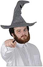 Beistle 60348 Felt Wizard hat, One Size Fits Most, Gray, 1 Piece Pack