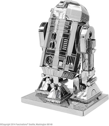 Star Wars-Maqueta de metal 3D R2-D2, color plateado Earth