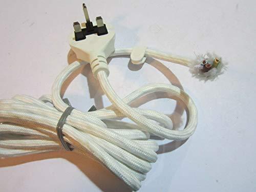 Witte Bosch Stoomstrijkijzer Gevlochten Hittebestendige 3 Core Kabel Lead Flex UK Plug