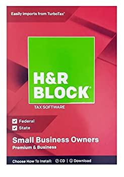 H&R Block Premium & Business 2018 Federal + State Tax Software for Small Business Owners  Windows Vista 7 8.1 10