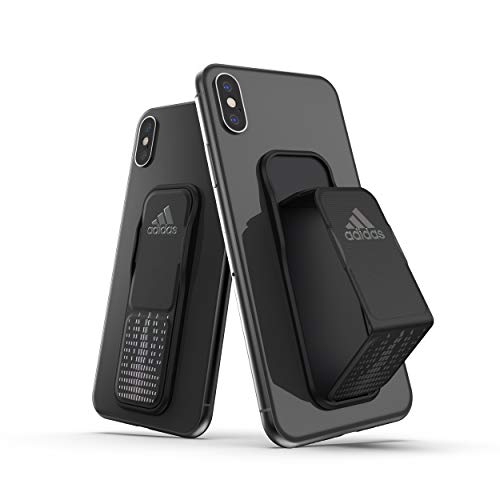 adidas Sports Compatible with iPhone X/XS/XR, Attachable Grip Band - Black Holographic