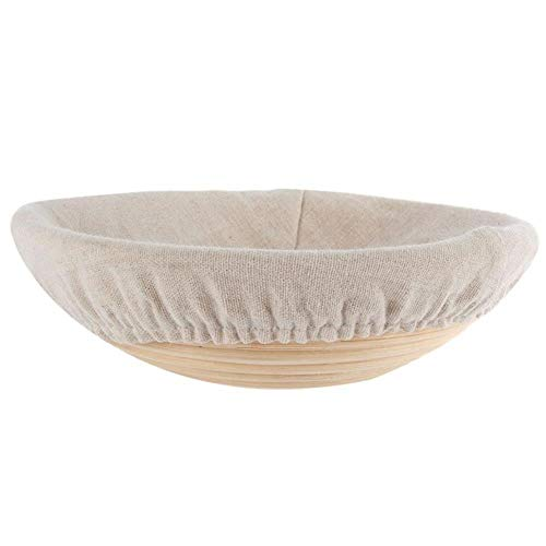 DEXUAN Bread Banneton Brotform Rising Rattan Basket Liner Oval Fruit Tray,A5