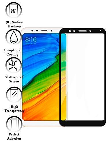 Todotumovil Protector de Pantalla Xiaomi Redmi 5 Plus Color Negro Completo 3D Cristal Templado Vidrio Curvo para movil