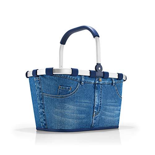 reisenthel carrybag jeans Einklaufskorb 48 x 29 x 28 cm, 22 Liter