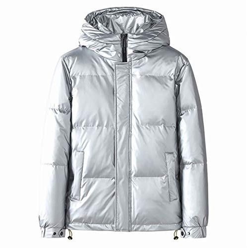 HSY SHOP Men's Lightweight Water-Resistant Down Jacket Breathable Windproof Packable Hooded (Color : White, Size : XS)