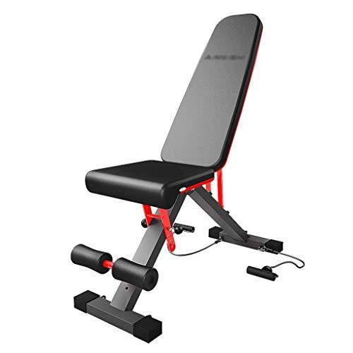 Z-LIANG Workout Bench Multi-función de la pesa de banco cubierta banco de ejercicio Fitness Equipment Sit-Up Junta Peso Entrenador abdominal, Comercial plegable (Color: Negro, tamaño: 107 * 34 * 72cm)