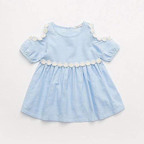 Crystallly Sweet Wind kinderkleding voor meisjes met jurk zomer meisjes eenvoudige stijl prinsessenjurk rok lantaarn mouwen kant