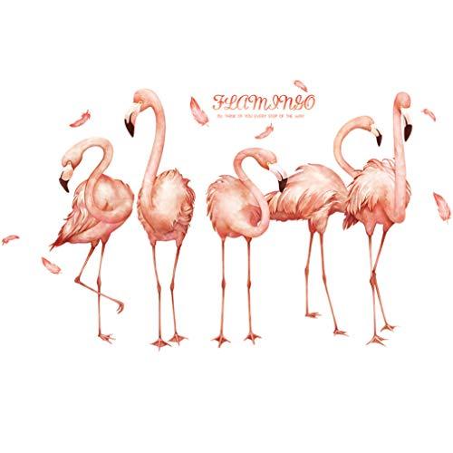 LadyGG Pegatinas Pared Decorativas Rosa Vinilos Flamencos