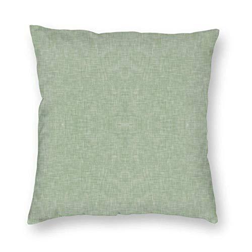 Fodere per Cuscini in Lino Verde Salvia Chiaro Solido Fodere per Cuscini in Poliestere Federe per Divano Decorazioni per la casa 18 x 18 Pollici