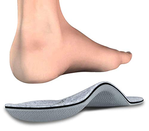 Kelaide Winter Orthopädische Einlegesohlen mit Fußgewölbestütze, Filz Warm Medizinische Funktionelle Schuheinlagen für Plattfüße, Plantarfasciitis, Fußschmerz