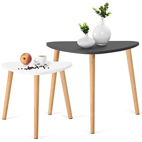 Comfort® Moderne bijzettafel bijzettafel bijzettafel bijzettafel salontafel voor woonkamer Grijs/Wit