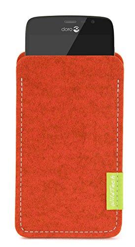 WildTech Sleeve für Doro Liberto 825 Hülle Tasche - 17 Farben (Handmade in Germany) - Rost