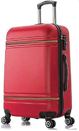 DK Luggage Lightweight ABS DK147 Hardshell Extra Large 32' Suitcase 4 Wheel Spinner Red