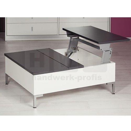 Häfele 643.12.200 Tischplatten-Hochschwenkbeschlag Tavoflex aluminumfarben 698 mm