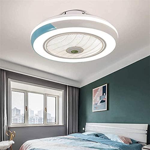 Ventilador de techo con luces LED LED regulable regulable con control remoto, lámpara 36W Ajustable Velocidad de viento Dormitorio Sala de comedor Vida invisible Lámparas de ventilador 40W Luces de te