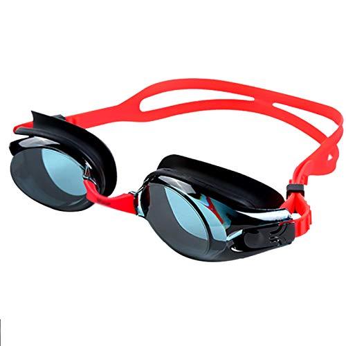 QQSS Gafas de Natación Antivaho, Gafas de Piscina para Hombre y Mujer Gafas de Nadar para Adultos Protección UV Correa Ajustable